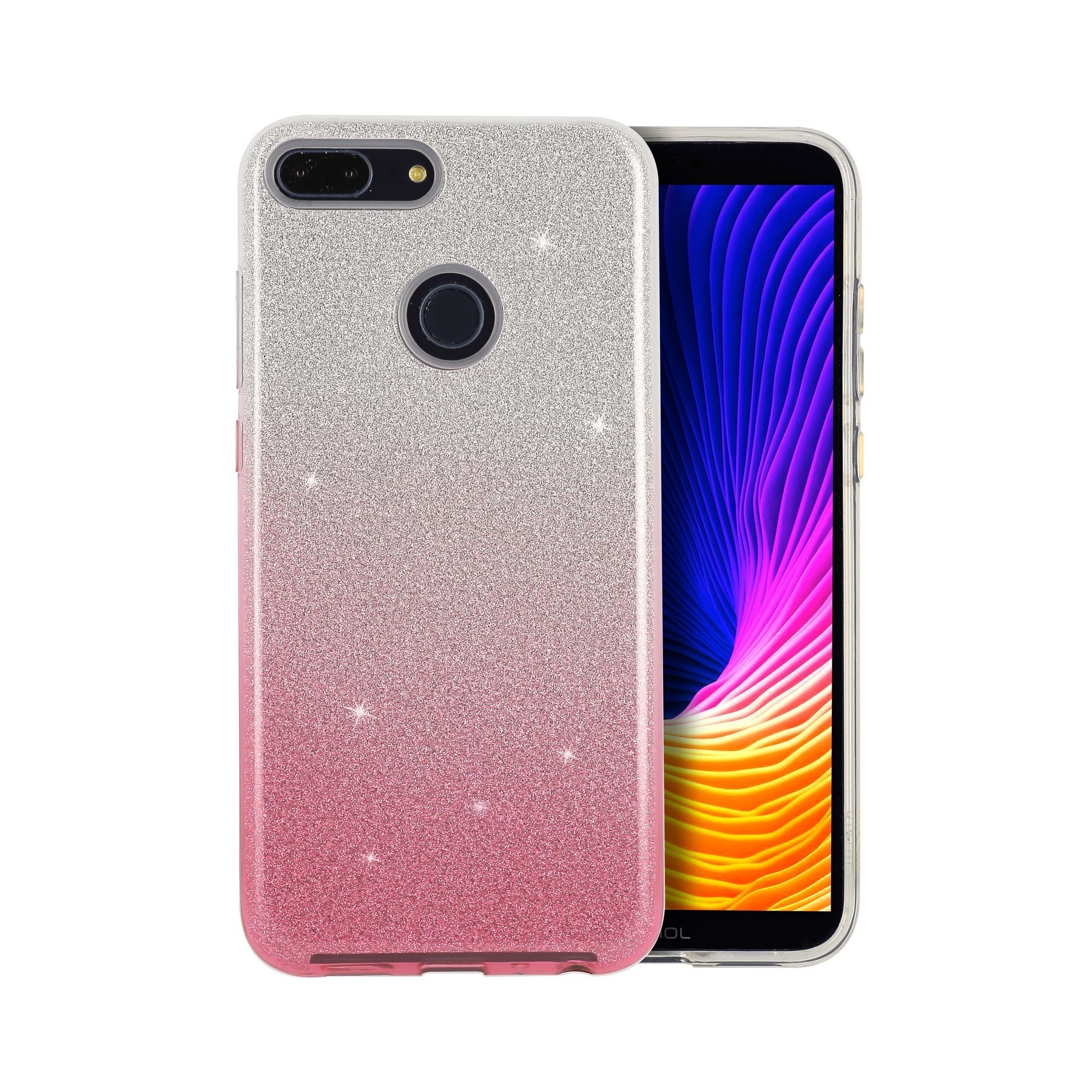 Coque Strass degrade rose pour Huawei Y7 2018