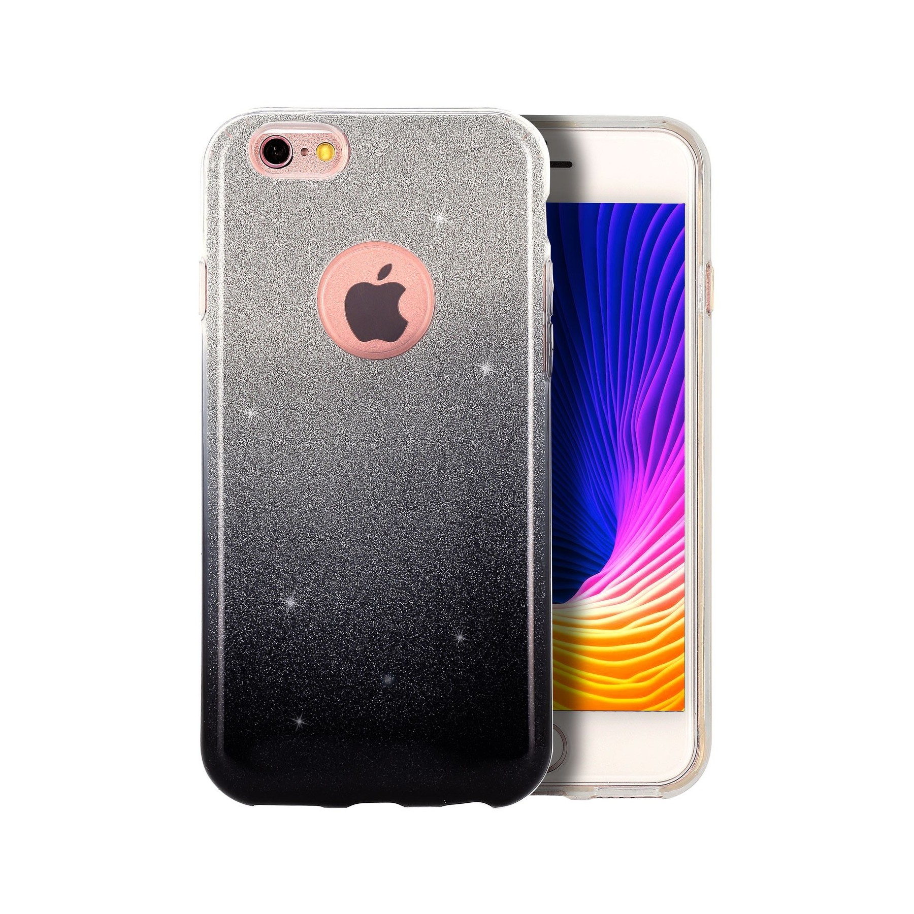 coque strass degrade noir pour apple iphone 6 plus iphone 6s plus