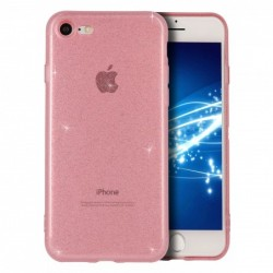 Coque transparente rose...