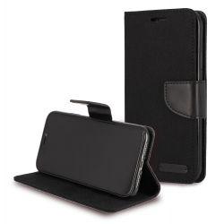 Etui à clapet jeans noir pour Samsung A20e