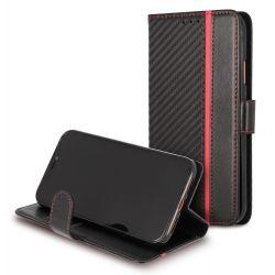 Etui à clapet Folio carbone sport pour Samsung Note 10