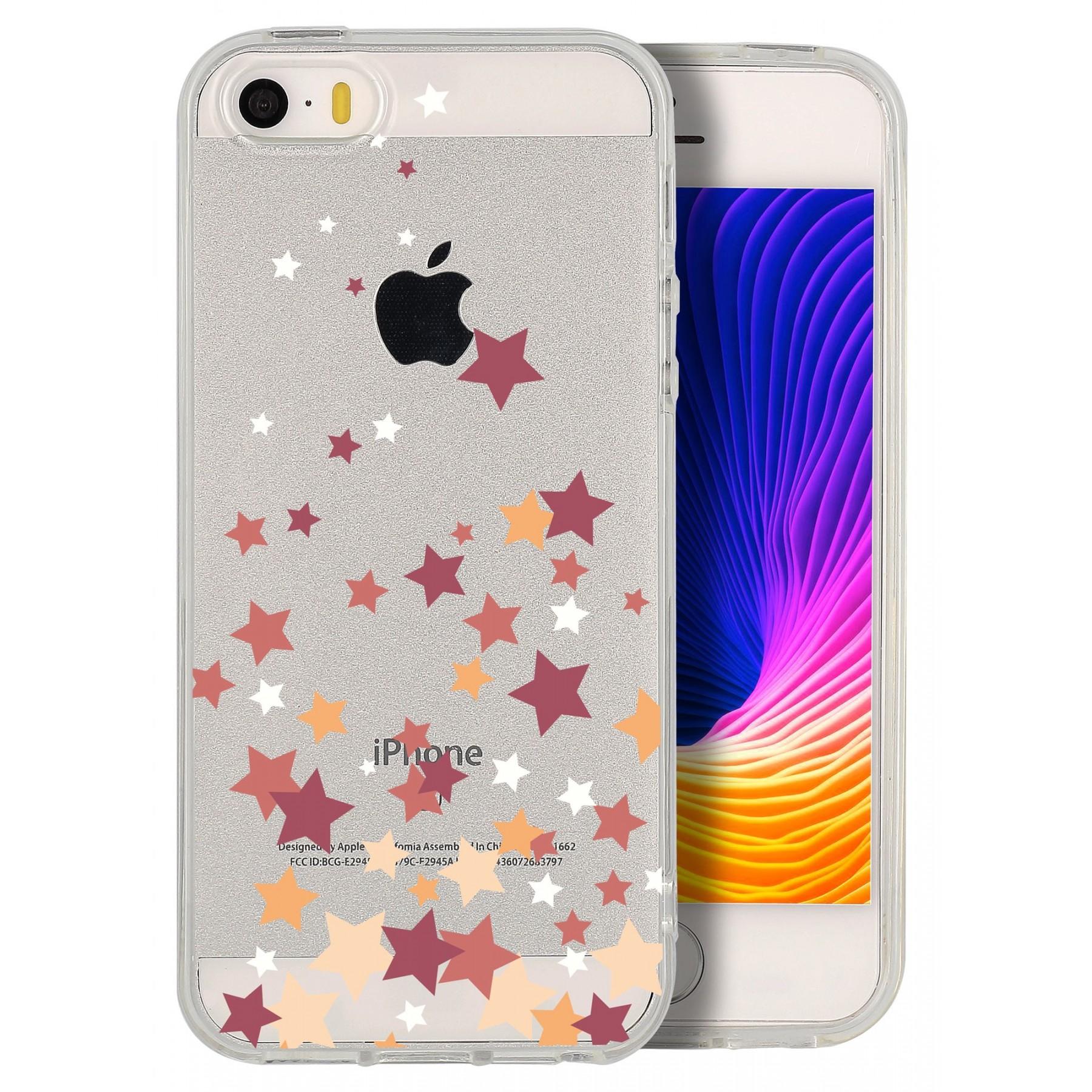 coque etoile multi color pour iphone 5s et se
