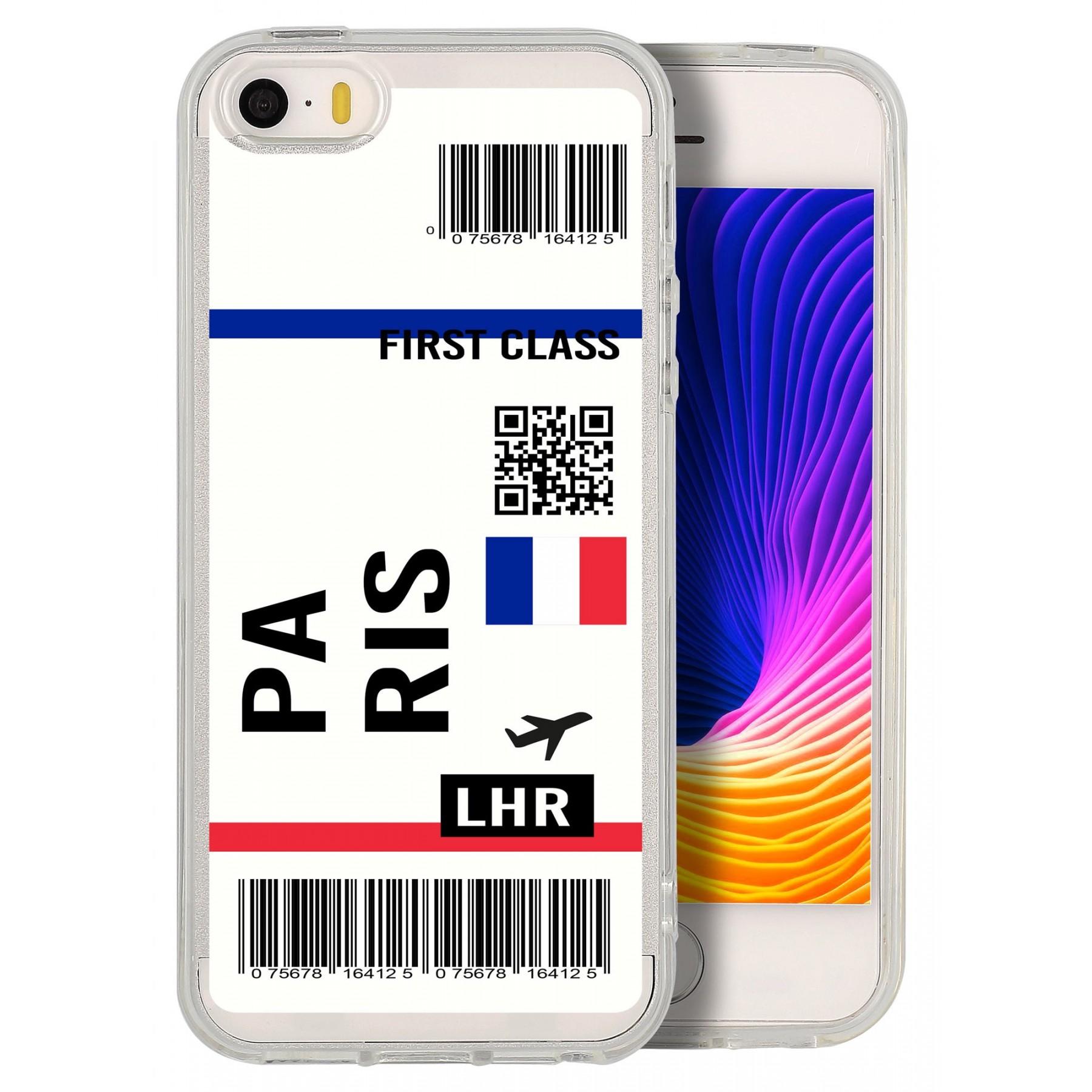 Coque billet avion personnalisable pour Iphone 5S et SE