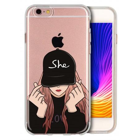 Coque girl casquette personnalisable pour Iphone 6 et 6S