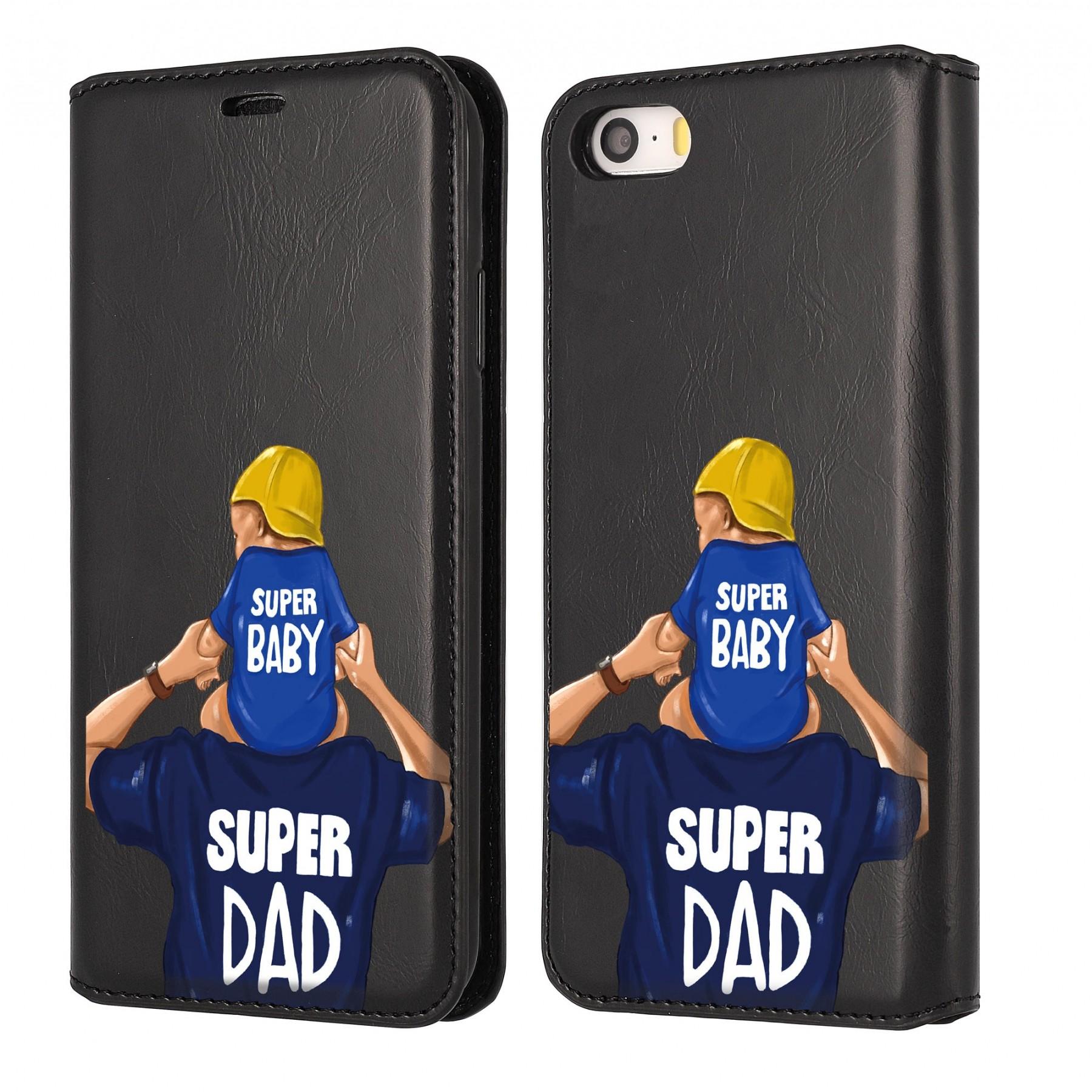 Etui à clapet baby papa personnalisable pour Iphone 5S et SE